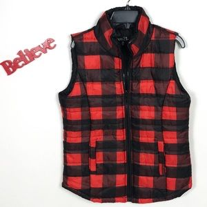Rue21 Plaid Checkered Puffer Vest